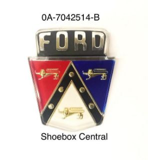 0A-7042514-B 1950 1951 Ford Deck Trunk Boot Emblem Badge Script Plastic