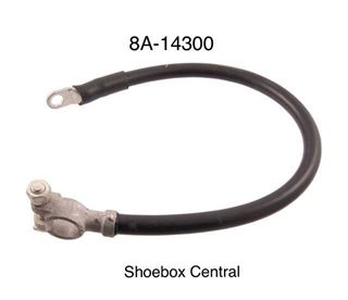 8A-14300 1949 1950 1951 Ford Positive Negative Battery Cable