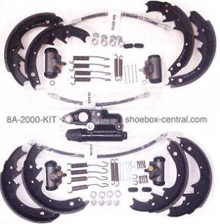 8A-2000-KIT 1949 1950 1951 Ford Complete Brake Overhaul Rebuild Kit