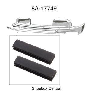 8A-17749 1949 Ford Front Bumper Bracket Arm to Body Splash Pan Rubber Bumper Seal Pad