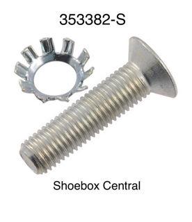 353382-S 1949 1950 1951 1952 1953 1954 Ford Door Striker Plate Screw