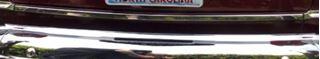 1951F-BLWDCKMLDG 1951 Ford Below Deck Lid Molding Stainless