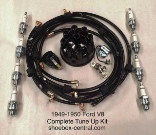 8BA-12259-TKIT 1949 1950 ford mercury flathead v8 complete engine tune up kit
