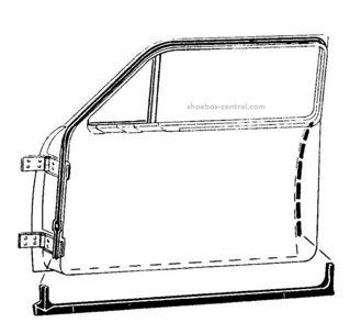 8M-7020530-PR 1949 1950 1951 Mercury 2 door coupe door seals rubber weatherstripping