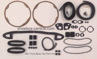 1A-700001-KIT 1951 Ford Basic Repaint Gasket set complete
