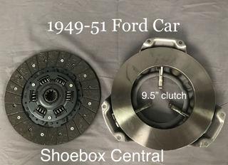 "1949 1950 1951 1952 1953 Ford Flathead V8 6 Cylinder New 9.5 "" inch Clutch kit Disc Pressure Plate"