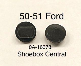 0A-16378 1950 1951 Ford Gas Fuel Petrol Filler Lid Hinge Door Rubber Bumpers