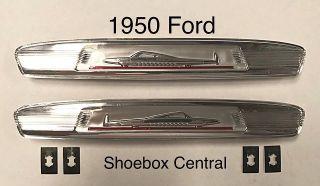 0A-7020988-APR 1950 Ford Garnish Molding Plastic Emblem Medallion insert Cruisemobile Airplane