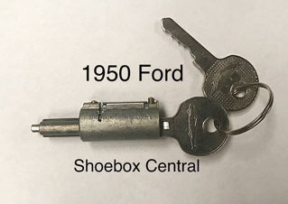 0A-7043505-A 1950 Ford Trunk Deck Boot Lock Cylinder Tumbler with Keys New