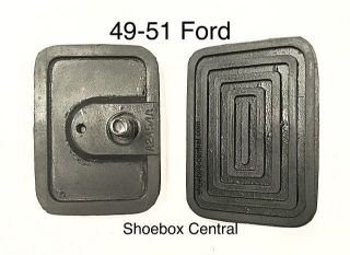 8A-2454 1949 1950 1951 Ford Brake Clutch Pedal Rubber Pads