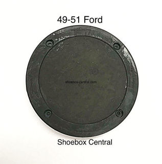 91A-7011136 1949 1950 1951 Ford Master Cylinder Filler Hole Cover Rubber Metal Floor Board Pan