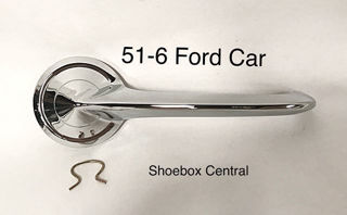 B5A-7022600-A 1951 1952 1953 1954 1955 1956 Ford Inside Door Handle Opener Chrome New