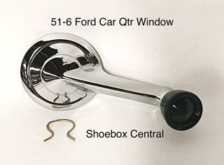 1A-7630322 1951 1952 1953 1954 1955 1956 Ford Victoria Convertible Quarter Window Crank Handle Chrome New