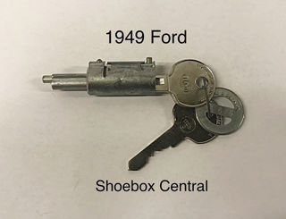 8A-7043505-A 1949 Ford Shoebox Trunk Deck Boot Lock Cylinder Tumbler