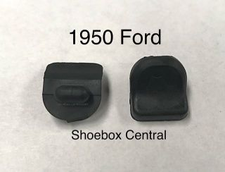 0A-7006066 1950 Ford Glove Box Compartment Door Rubber Bumpers