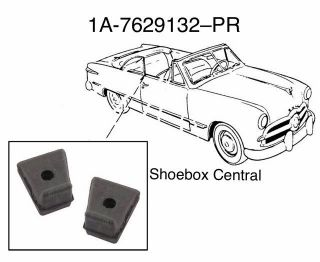 1A-7629132-PR 1951 Ford Lower Front Quarter Window Pad Seal Rubber Stop