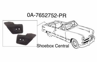 0A-7652752-PR 1950 1951 Ford rear quarter window pad rubber seal stop