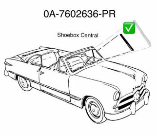 0A-7602636-PR 1949 1950 1951 Ford Windshield Post Shim Seal Rubber