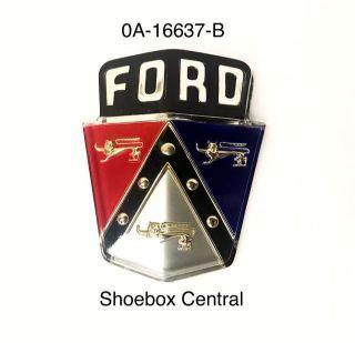 0A-16637-B 1950 1951 Ford Hood Bonnet Emblem Badge Plastic Insert Script