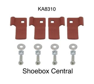 KA8310 1949 1950 1951 Ford Fender Skirt Spat Hardware Bracket Kit
