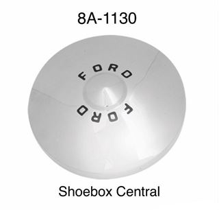 8A-1130 1949 1950 ford hubcap hub cap wheelcover wheel cover chrome