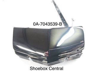 0A-7043539-B 1950 Ford Luggage Deck Trunk Boot Lid Chrome Handle