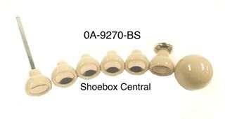 0A-9270-BS 1950 Ford Dash Instrument Panel Ivory Knob Kit