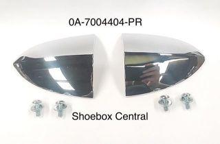 0A-7004404-PR 1950 Ford Chrome Dash Instrument Panel Ends Trim Moldings