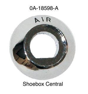 0A-18598-A 1949 1950 Ford Air Cable Chrome Bezel