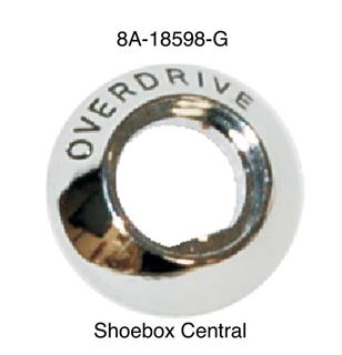 8A-18598-G 1949 1950 1951 Ford Overdrive Cable Chrome Bezel