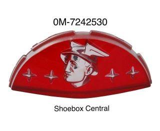 0M-7242530 1950 1951 Mercury Hood Deck Trunk Boot Lid Emblem Plastic Insert