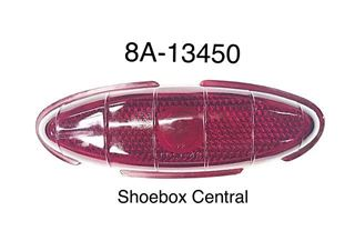 8A-13450 1949 1950 Ford Tail Light Lens Glass Red