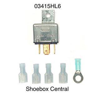 03415HL6 Ford 6 Volt Headlight Relay Head Light 6V