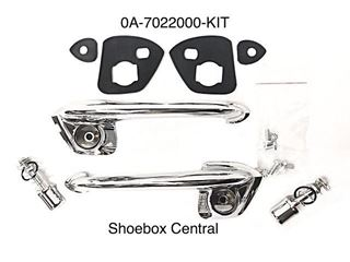 0A-7022000-KIT 1950 1951 Ford Outside Exterior Door Handle Kit Complete