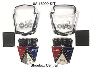 0A-16000-KIT 1950 1951 Ford Hood Bonnet Trunk Deck Boot Lid Emblem Kit Complete
