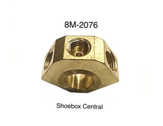 8M-2076 1949 1950 1951 Ford Mercury Brake Master Cylinder Brass Fitting Junction Block