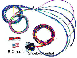 Rebel Wiring 8 Circuit 12V 12 Volt Universal Wiring Harness Loom Kit