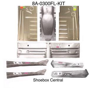 8A-0300FL-KIT 1949 1950 Ford Complete Stock Correct Original Floor Pan Kit