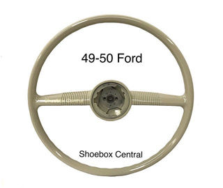 8A-3600-A 1949 1950 Ford Steering Wheel Ivory New