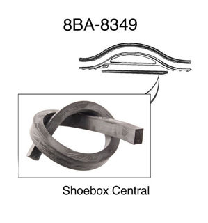 8BA-8349 1949 1950 1951 ford radiator air deflector to top tank rubber seal