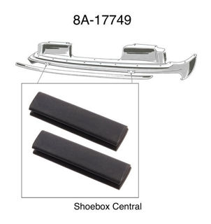 8A-17749 1949 Ford Front Bumper Bracket Arm to Body Splash Pan Rubber Bumper Seal Pad