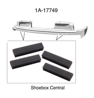 1A-17749 1951 Ford Front Bumper Arm Bracket to Lower Grille Splash Pan Rubber Bumper Anti Rattler Pad