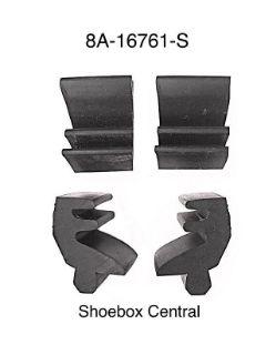 8A-16761-S 1949 Ford Hood Bonnet Rubber Bumper Bump Stop Anti Rattler Kit
