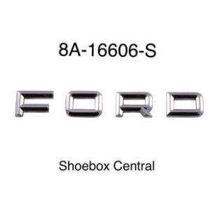 8A-16606-S 1949 ford chrome hood bonnet letter emblem kit