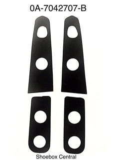0A-7042707-B 1950 ford trunk deck boot lid hinge rubber pads pad seals