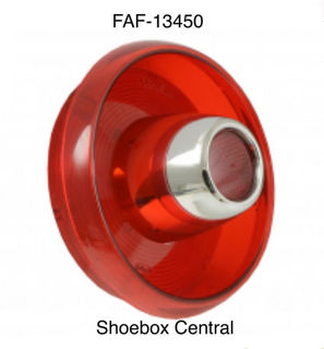 FAF-13450 1953 Ford Tail Light Lens With Chrome