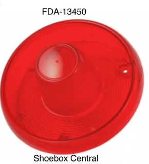 FDA-13450 1953 1954 Ford Tail Light Lens Without Chrome