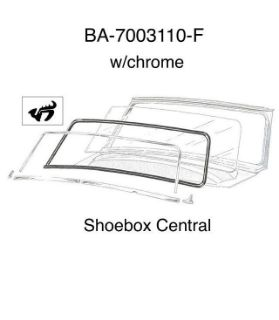 BA-7003110-F 1952 1953 1954 Ford Windshield Rubber Weatherstripping Seal with Chrome