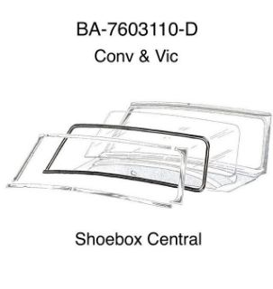 BA-7603110-D 1952 1953 1954 Ford Victoria Hardtop Convertible Windshield Rubber Weatehrstrip Seal