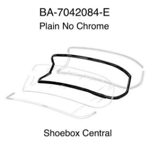 BA-7042084-E 1952 1953 1954 Ford Mainline Plain No Chrome Back Rear Window Weatherstrip Seal Rubber